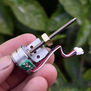 Micro Mini 15mm 2-phase 4-wire Stepper Motor Long Linear Screw Slider Block Nut