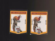 2012-13 Panini Past and Present Championship Banners Heat Dwayne Wade x2