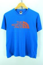 The North Face Men's T-Shirt Size S Small Blue Short Sleeve Cotton TeeEF2562