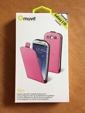 Muvit Slim Case with Magnetic Fastening Clip for Samsung Galaxy S3 Pink
