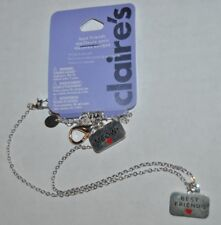Claire's Silver Best Friends Cat Meow Necklace & Cat Tag