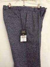 "Mens Blue Smart Wool Blend Smart Trousers 28"" Waist Regular By Topman Skinny Fit"
