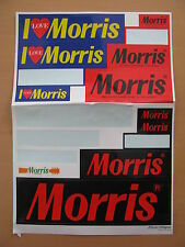 11 x Aufkleber Morris I love Morris we create good Music of th World 11 Stück