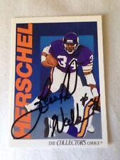 Herschel Walker VINTAGE HAND SIGNED 1991 Upper Deck Card With COA Stock #2