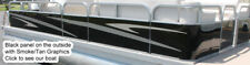 """Replacement Pontoon Fence Paneling Black Color 24.5"""" Tall 20' Long"""