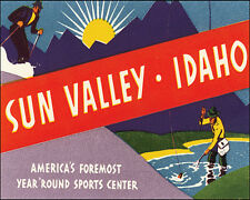 SUN VALLEY IDAHO YEAR ROUND SPORTS USA 8 X 10 VINTAGE POSTER REPRO FREE SHIPPING