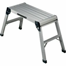 Folding Aluminum Platform LADDER 225lb. Capacity PAINTING CLEANING WASHING NEW