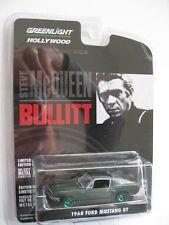 BULLITT `68 Ford Mustang GT 1968  GREEN MACHINE Chase ***** Greenlight 1:64