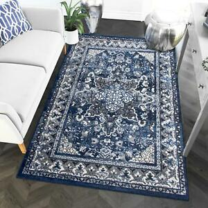Super Area Rugs Contemporary Modern Medallion Area Rug in Blue
