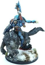 Warhammer 40k Space Marines Space Wolves Wolf Lord on Thunderwolf