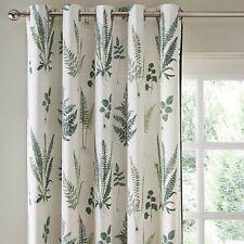 Dunelm Fern Floral Pair Eyelet Curtains 228 x 228cm - Green A