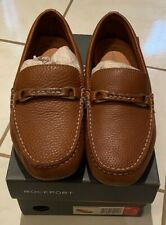 Brand New Super Comfortable Brown Leather Loafers US8 UK7.5 EUR41W