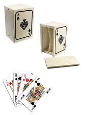 Porta Carte Gioco Scatola Legno Confanetto Decoupage Poker Scala 40 Decoro dfh