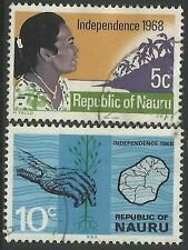 NAURU 1968 Independence 2v Fine Used