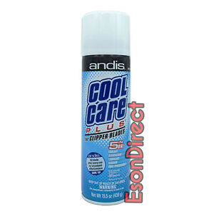 Andis Cool Care Plus 5 in 1 Cleaner Spray For Clipper Blades 439g Barbers Salons