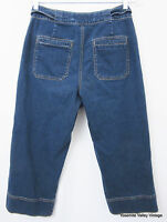 Coldwater Creek Womens Size 6 Blue Denim Capri Jeans 29X20 Stretch