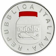 ITALIA 2021 moneta  Argento 5 euro FDC NUTELLA ROSSA subito disponibile