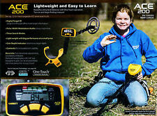 GARRETT ACE 200 NEW METAL DETECTOR,  WATERPROOF COIL, FREE SHIPPING WITHIN USA!