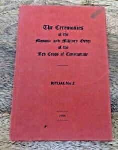 1996 CEREMONIES OF RED CROSS OF CONSTANTINE RITUAL NO 2 MASONIC BOOK (38)