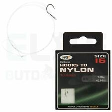 Barbless Size 16 Hooks to 3lb Nylon X 10 by NGT Carp Course Fishing