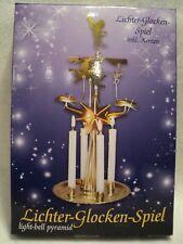 "Ksa ""Lichter-Glocken-Spi el"" ~ Light-Bell Pyramid ~ Angel Chimes Candle Set"