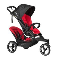 Phil & Teds 2017 Dot V3 Stroller & Double Kit Black/Red Brand New!!