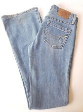 AMERICAN EAGLE denim Jeans women size 0 long Hipster Fit Light wash Bootcut
