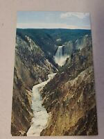 Vintage Postcard - Waterfall Scene - Lower Falls Yellowstone Unposted #806