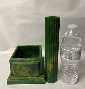 Large Vintage Green Swirl Bakelite Catalin Trophy Base(only) Pieces Parts 844g