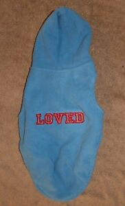 "Martha Stewart Pets Blue Fleece Hoodie ""LOVED"" Medium NWT ADORABLE! NWT"