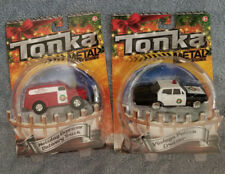 Tonka Metal Diecast Bodies -  Vintage Police Cruiser/Holiday Delivery Truck Set