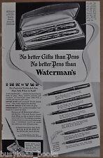 1936 Waterman's Fountain Pen advertisement for WATERMAN Ink-Vue pens