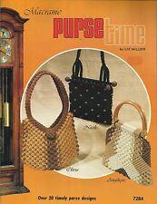 Macrame Purse Time Liz Miller 20 Patterns Instruction Book NEW 1981