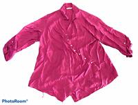 Woman's SOFT SURROUNDINGS Pink Long Sleeve Shirt Top Blouse Size Plus 1X