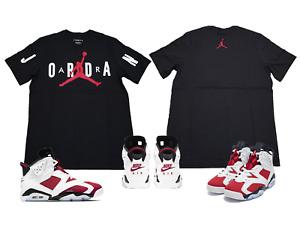 "Air Jordan 6 Retro ""Carmine"" Match Tee T-Shirt Black (Original) CZ1880-010"