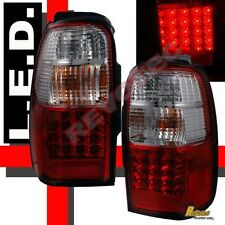 1996-2002 Toyota 4Runner SR5 Base Limited Red Clear LED Tail Lights Lamps 1Pair