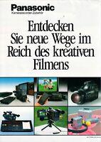 PANASONIC - Prospekt Broschüre für Kamerarecorder Zubehör Video Film - B10856