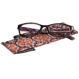 Foster Grant Reading Glasses Womens Fashion Reader Allegra Red Paisley New +2.00