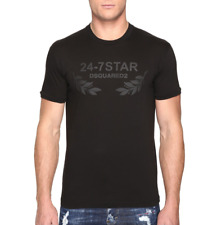 DSQUARED2 Mens Black 24-7 Star T Shirt Sz XXL 7229