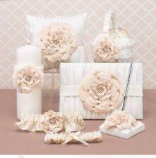 Flower Girl Basket, Ring Bearer Pillow, Guestbook, Pen, & Garter Set