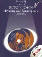 ELTON JOHN SONGS ALTO SAXOPHONE Sheet Music Book & 2 x CDs Sax Songbook