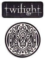 Twilight Movie Logo Costume Patch Set of 2- USA Mailed (TWPA-1001/2)