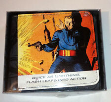 FLASH GORDON FAUX LEATHER WALLET Bifold COMIC STYLE Boxed CARDS NOTE Retro Hero