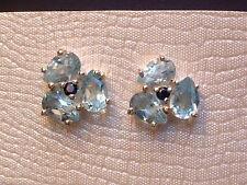 Blautopas & Saphir - Blüten - Ohrstecker - Sterling Silber - 925 - exclusiv !