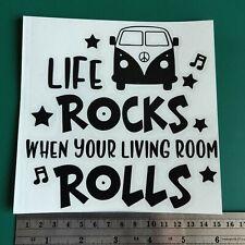 Life Rocks Camper Van logo - Camper/Car/Van/Fridge/Laptop Vinyl Decal Sticker