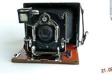 Ernemann HeagVI folding wood plate camera 8x11+Doppel-Anastigmat 135mm VERY RARE