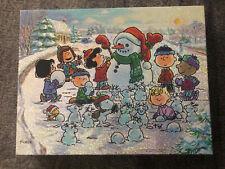 Springbok Jigsaw Puzzle Peanuts Winter Wonderland Snow Christmas 500 Pieces