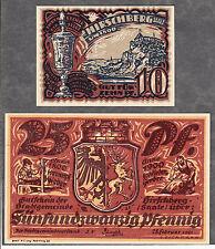 Hirschberg Saale -Stadt- vollst. Serie, 2 Serienscheine (L 593 ab)