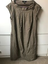 70c90a92fdb CUE Taupe Sleeveless Wool Blend Shift Dress-Size 8-As New