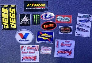 LOT OF 14 NHRA HIGHT RACING SUMMIT Sunoco JEGS RACE CAR STICKER DECALS NASCAR